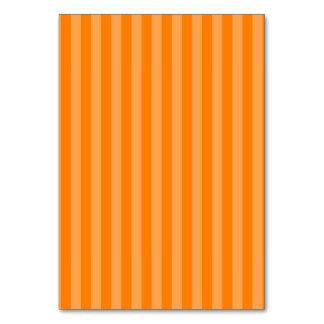Thin Stripes - Orange and Dark Orange Table Card