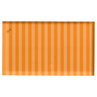 Thin Stripes - Orange and Dark Orange Table Number Holder