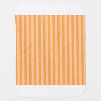 Thin Stripes - Orange and Light Orange Baby Blanket