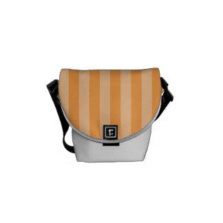 Thin Stripes - Orange and Light Orange Courier Bag