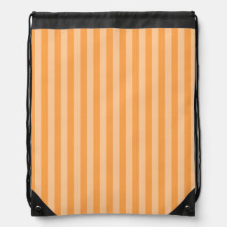 Thin Stripes - Orange and Light Orange Drawstring Bag