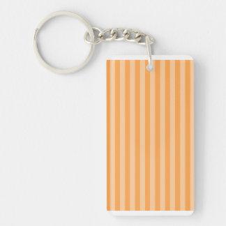 Thin Stripes - Orange and Light Orange Keychain