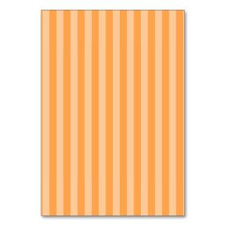 Thin Stripes - Orange and Light Orange Table Card