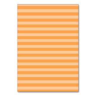 Thin Stripes - Orange and Light Orange Table Cards