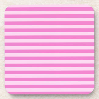Thin Stripes - Pink and Dark Pink Beverage Coasters