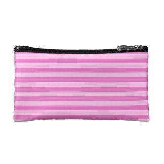 Thin Stripes - Pink and Dark Pink Cosmetic Bags