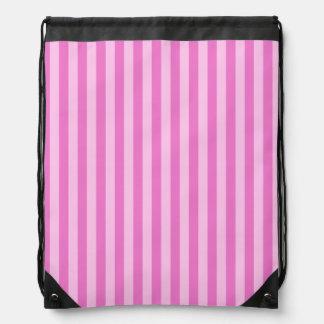 Thin Stripes - Pink and Dark Pink Drawstring Bag