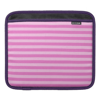 Thin Stripes - Pink and Dark Pink iPad Sleeve