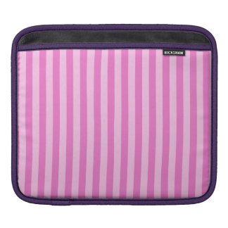 Thin Stripes - Pink and Dark Pink iPad Sleeve