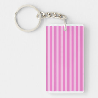 Thin Stripes - Pink and Dark Pink Keychain