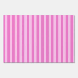 Thin Stripes - Pink and Dark Pink Sign