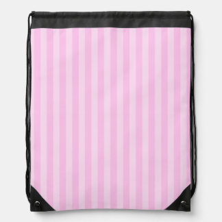 Thin Stripes - Pink and Light Pink Drawstring Bag