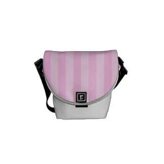 Thin Stripes - Pink and Light Pink Messenger Bags