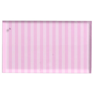 Thin Stripes - Pink and Light Pink Place Card Holder