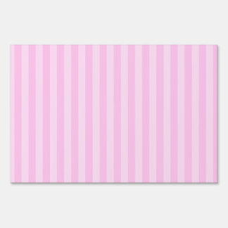 Thin Stripes - Pink and Light Pink Sign