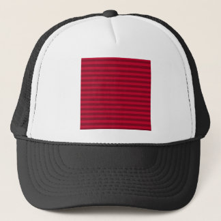 Thin Stripes - Red and Dark Red Trucker Hat