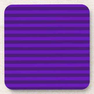 Thin Stripes - Violet and Dark Violet Beverage Coasters