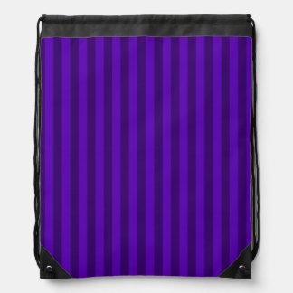 Thin Stripes - Violet and Dark Violet Drawstring Bag
