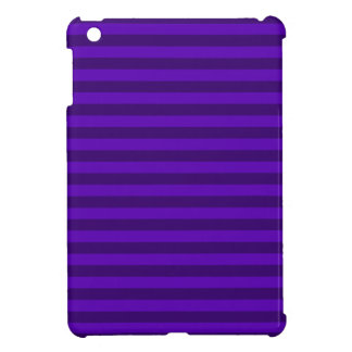 Thin Stripes - Violet and Dark Violet iPad Mini Cover