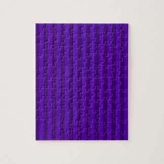 Thin Stripes - Violet and Dark Violet Jigsaw Puzzle