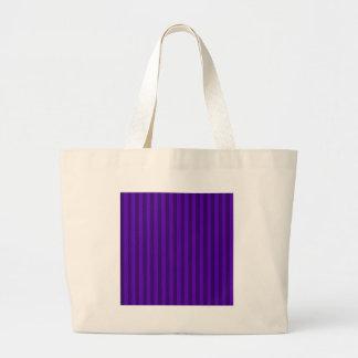 Thin Stripes - Violet and Dark Violet Large Tote Bag