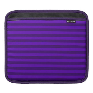 Thin Stripes - Violet and Dark Violet Sleeves For iPads