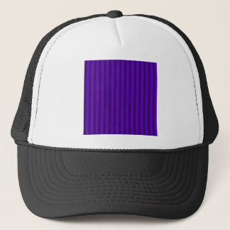 Thin Stripes - Violet and Dark Violet Trucker Hat