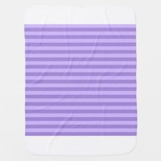 Thin Stripes - Violet and Light Violet Baby Blanket