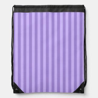 Thin Stripes - Violet and Light Violet Drawstring Bag