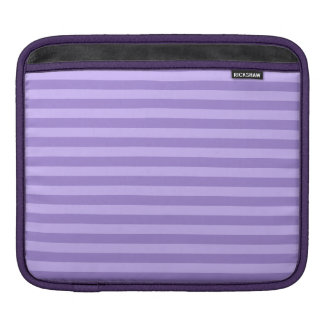 Thin Stripes - Violet and Light Violet iPad Sleeve