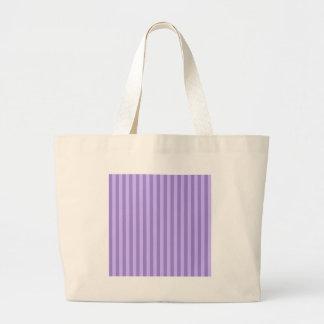 Thin Stripes - Violet and Light Violet Large Tote Bag