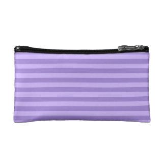 Thin Stripes - Violet and Light Violet Makeup Bags