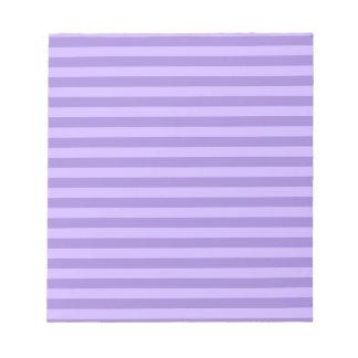 Thin Stripes - Violet and Light Violet Notepad