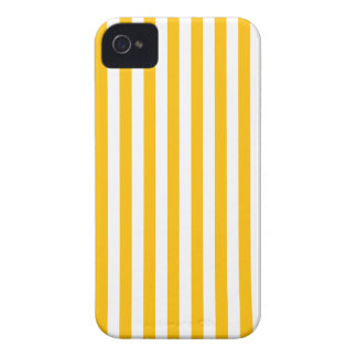 Thin Stripes - White and Amber iPhone 4 Case-Mate Cases
