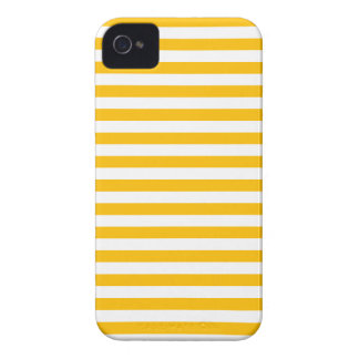 Thin Stripes - White and Amber iPhone 4 Covers