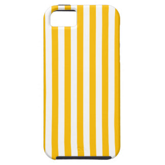 Thin Stripes - White and Amber iPhone 5 Covers