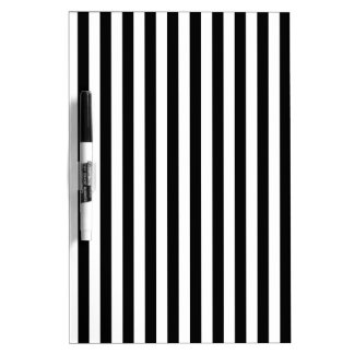 Thin Stripes - White and Black Dry Erase Boards