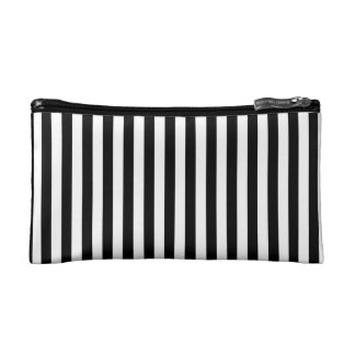 Thin Stripes - White and Black Makeup Bags