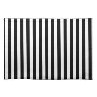 Thin Stripes - White and Black Placemat