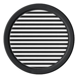 Thin Stripes - White and Black Set Of Poker Chips