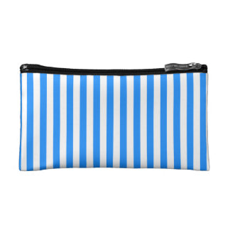 Thin Stripes - White and Blue Makeup Bag