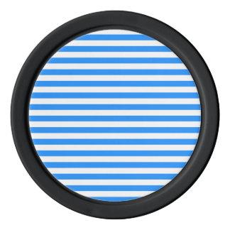 Thin Stripes - White and Blue Poker Chip Set