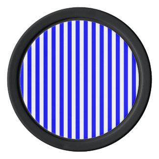 Thin Stripes - White and Blue Poker Chips Set