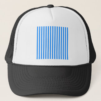 Thin Stripes - White and Blue Trucker Hat