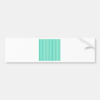 Thin Stripes - White and Caribbean Green Bumper Sticker