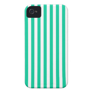 Thin Stripes - White and Caribbean Green iPhone 4 Case