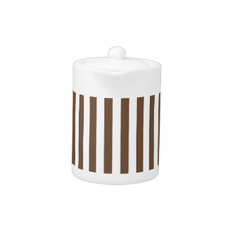 Thin Stripes - White and Coffee