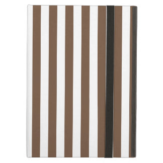 Thin Stripes - White and Coffee Case For iPad Air