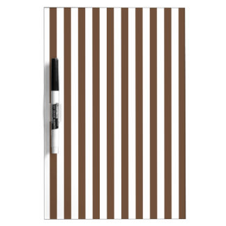 Thin Stripes - White and Coffee Dry Erase Board