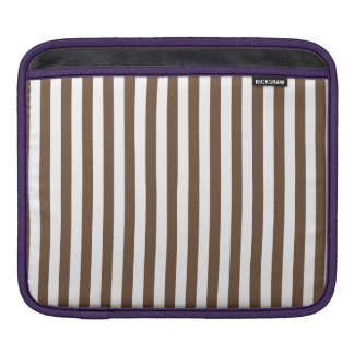 Thin Stripes - White and Coffee iPad Sleeve